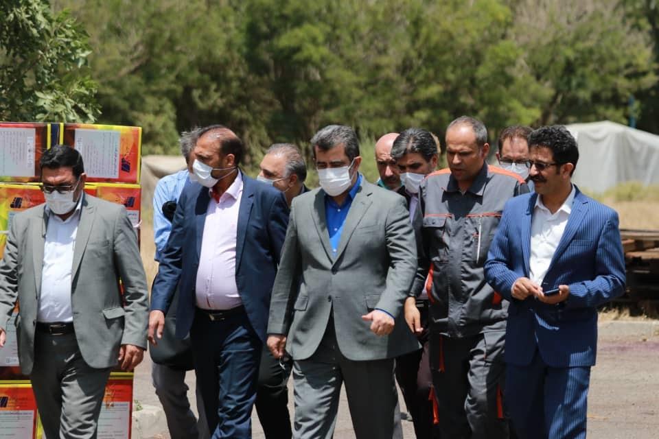 مراسم راه اندازی واحیا کارخانه آرد همدان توسط وزیر کشور جناب آقای دین پرست ازطریق ویدئو کنفرانس